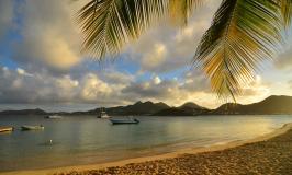 Pinel Island sunset