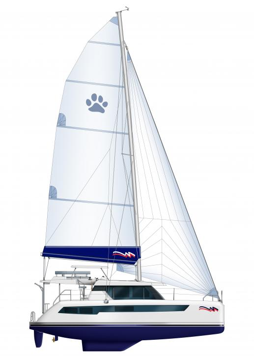 Moorings 4200 sailplan