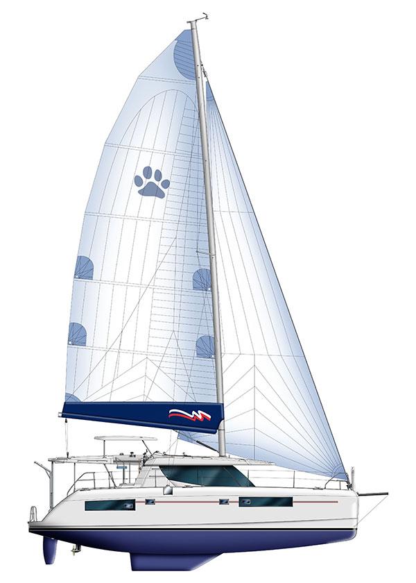 Moorings 4500 Sail Plan