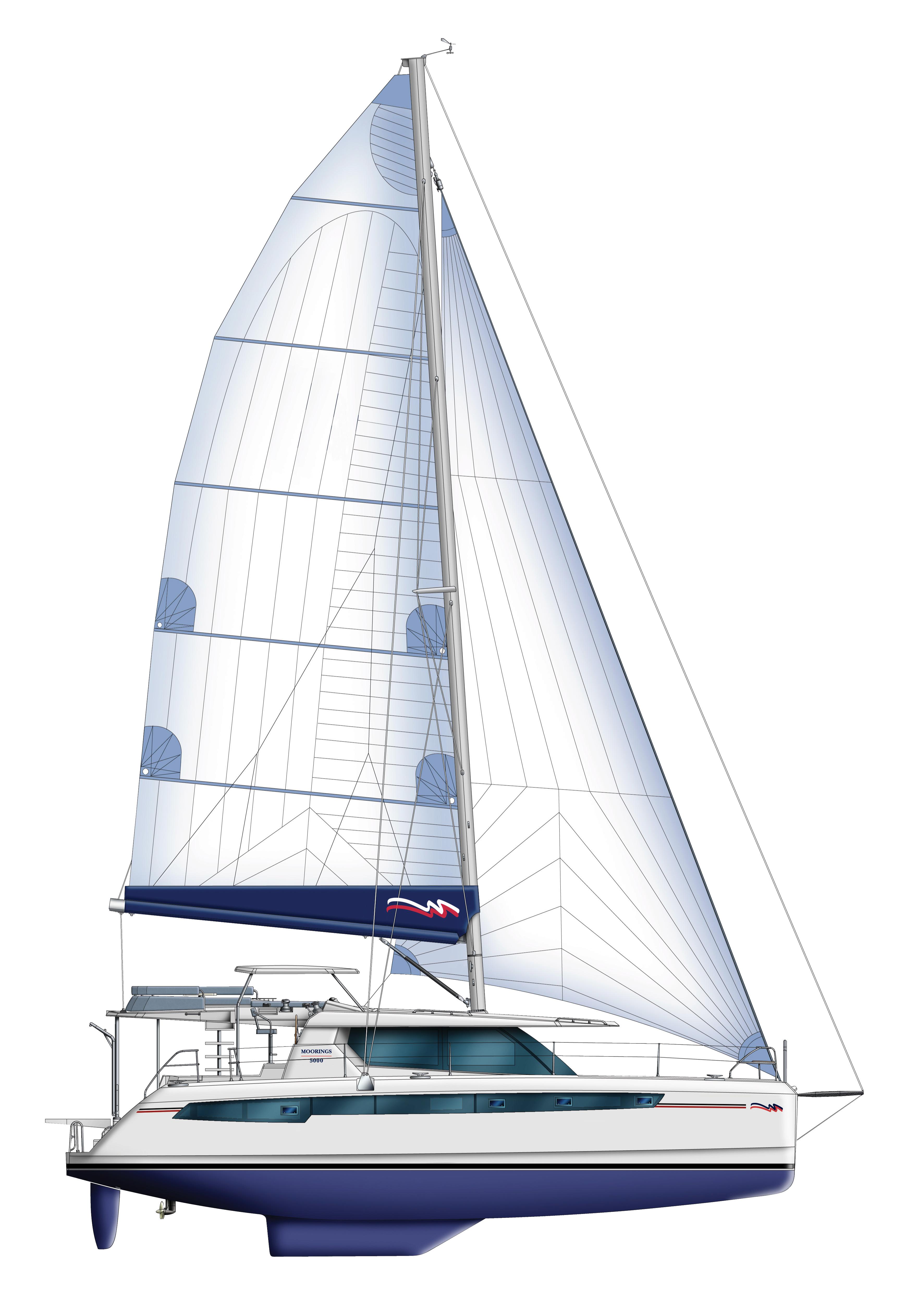 Moorings 5000 sailplan