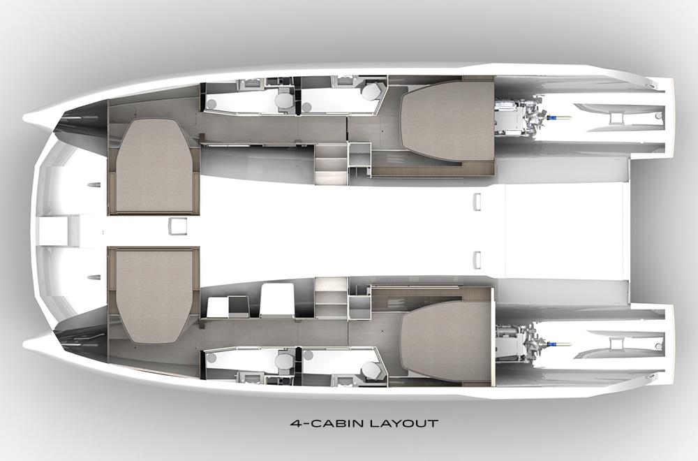 Moorings 464PC interior layout